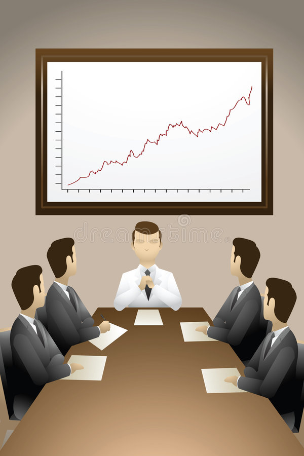 Download Business Meeting stock illustration. Illustration of cooperation - 1496483