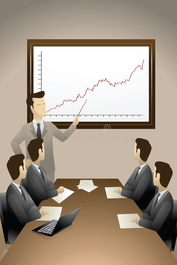 Download Business Meeting stock illustration. Image of account - 1500122