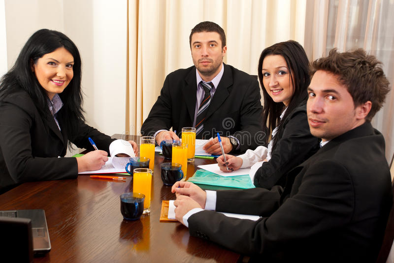 Download Business meeting stock image. Image of folders, businesspeople - 18343565