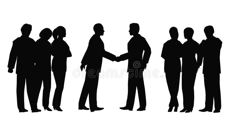 Business meeting royalty free illustration