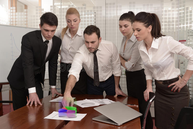 Download Business meeting stock image. Image of papers, lady, hologram - 28721557