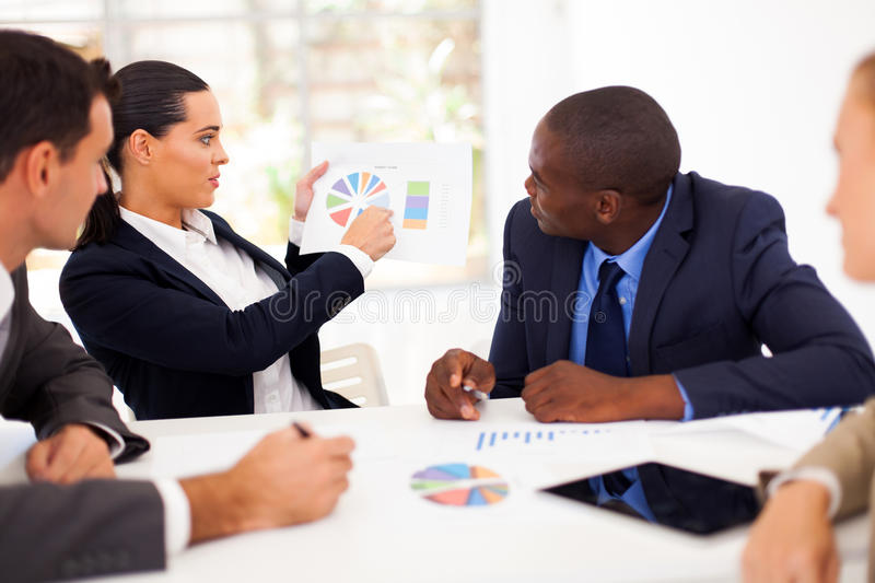 Business meeting. Group of business people having meeting together royalty free stock images