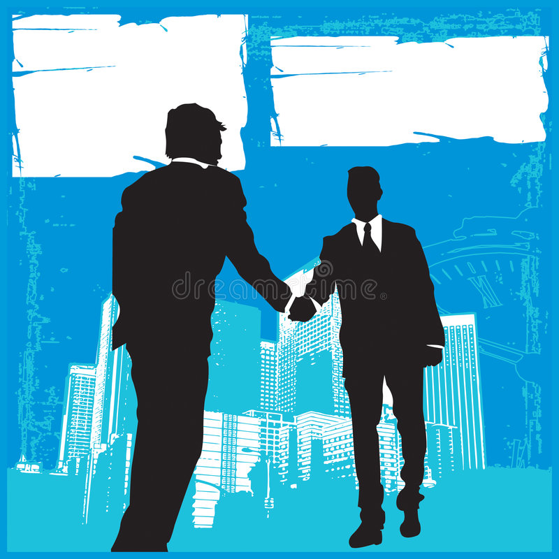 Business Meeting 3. Business related with work, clients, stress, time management royalty free illustration