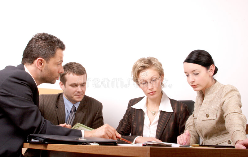 Download Business Meeting Of 4 Persons Stock Photo - Image: 419726