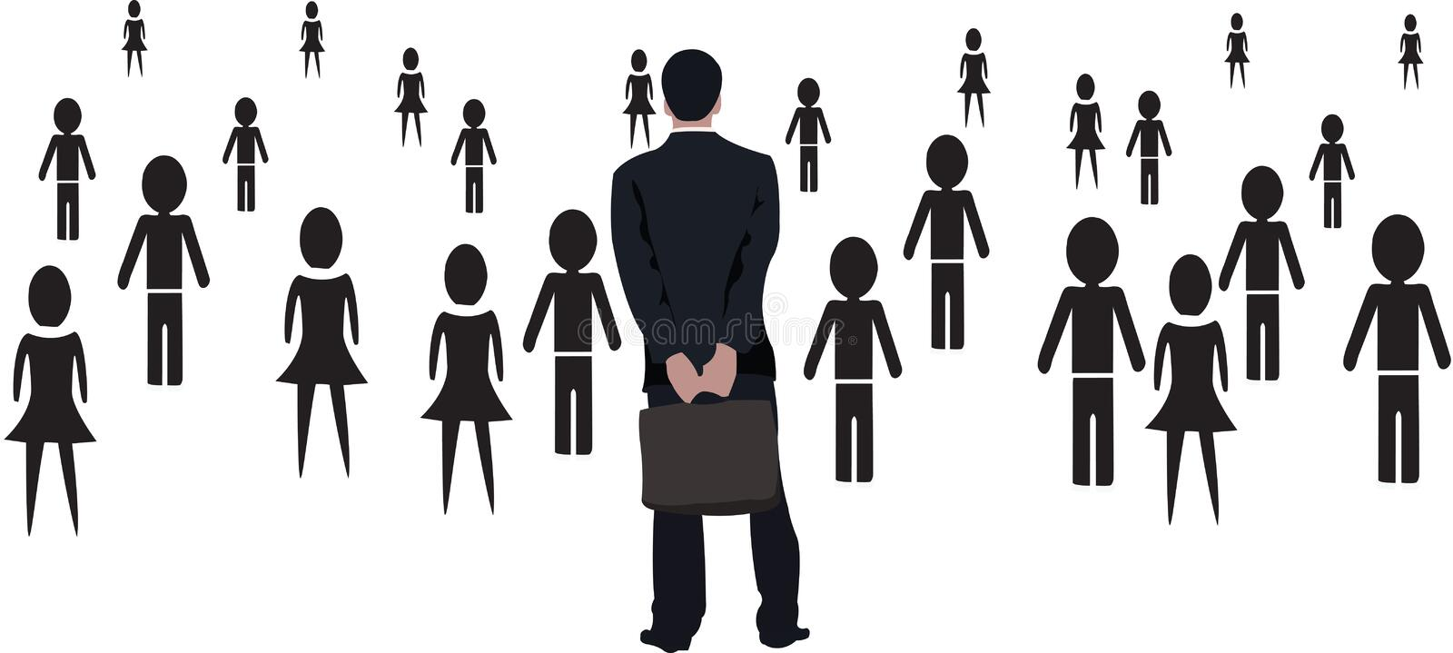 Business meeting assembly group of people royalty free illustration