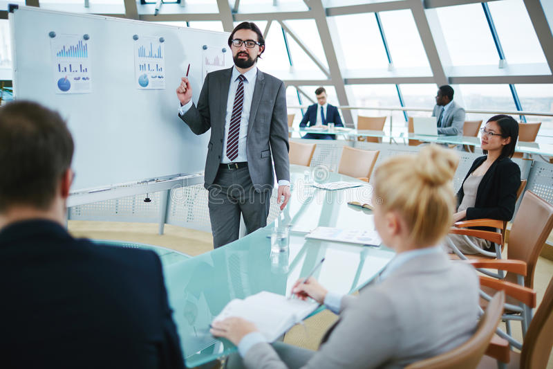 Business meeting in board room royalty free stock photography