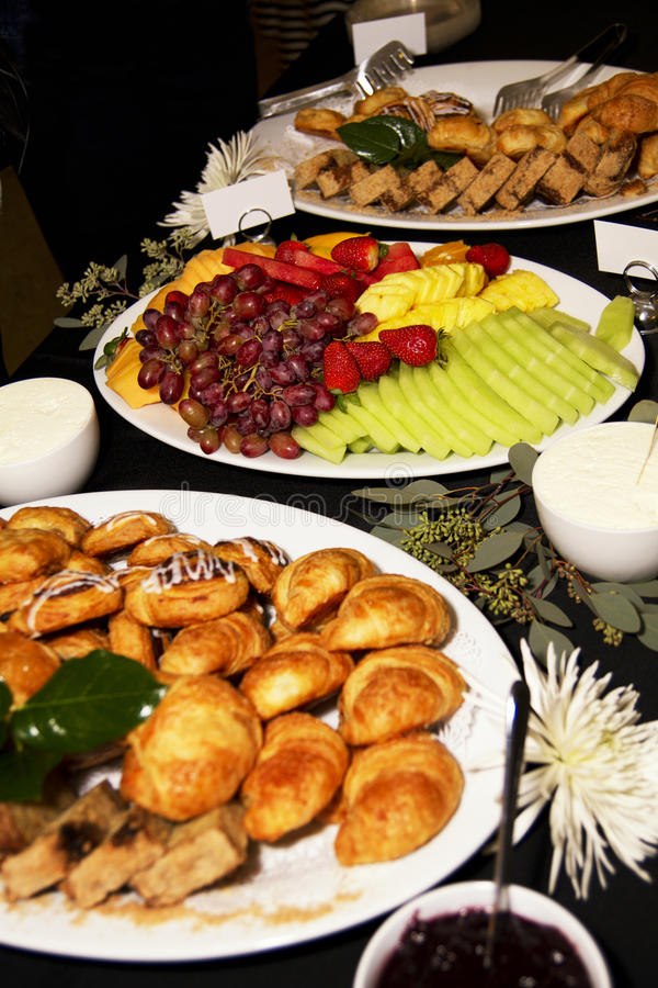 Business Meeting Breakfast Party Buffet royalty free stock photography