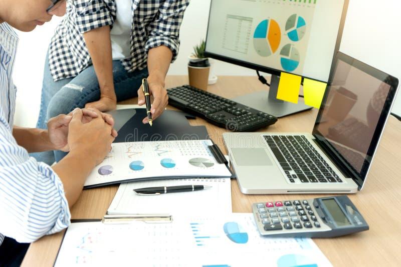Business meeting businessman and businesswoman stock photos