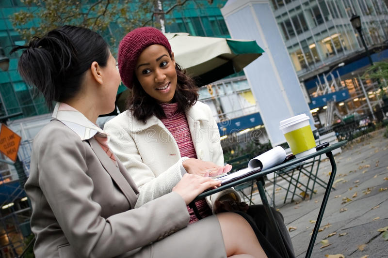 Business Meeting in the City stock photography