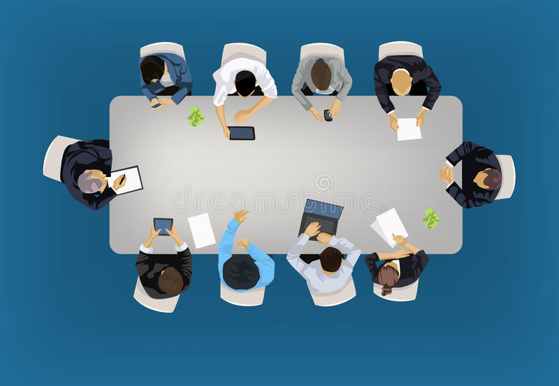 Business meeting concept vector illustration