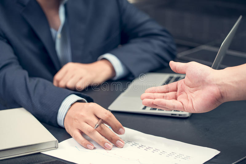 Business meeting concept picture businessmans young crew working stock photo