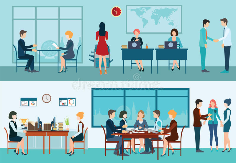 Business meeting conceptual vector illustration. royalty free illustration