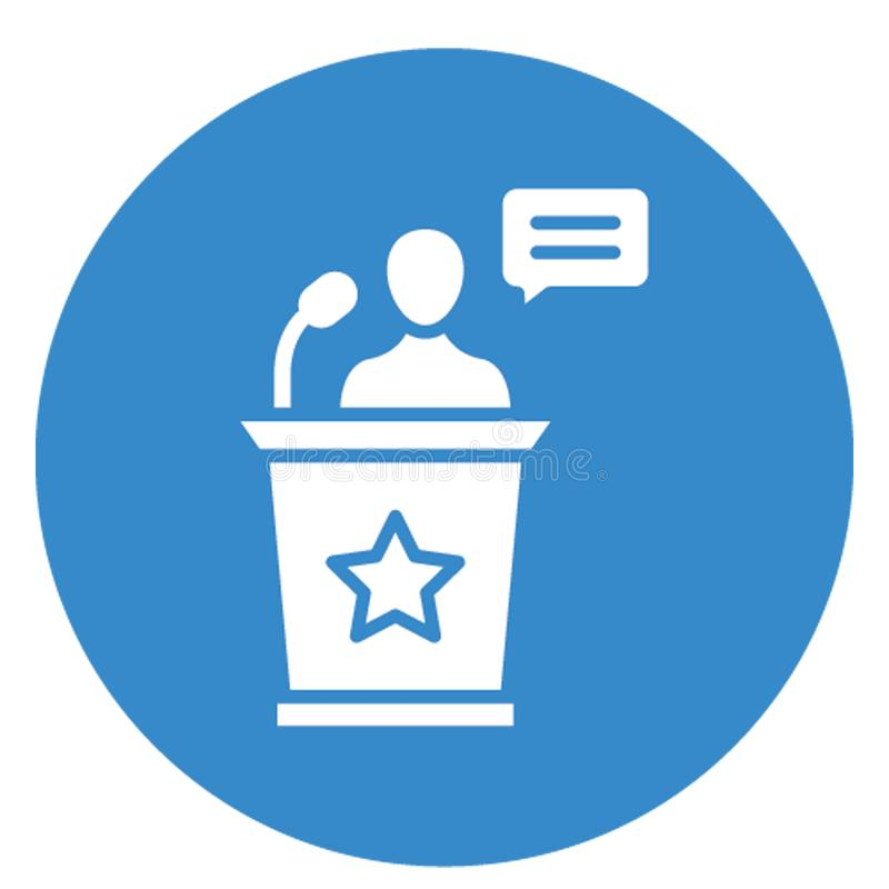 Business meeting, conference .   Vector icon which can easily modify or edit stock illustration
