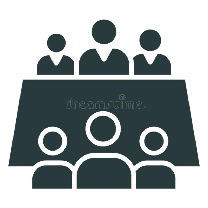 Business meeting, conference .  Vector icon which can easily modify or edit vector illustration