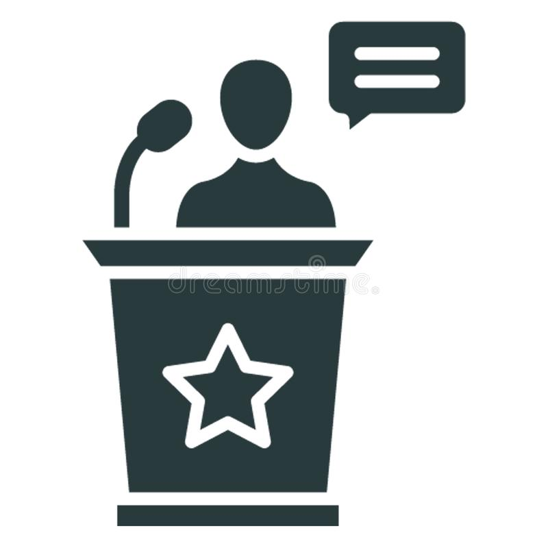 Business meeting, conference . .  Vector icon which can easily modify or editable royalty free illustration