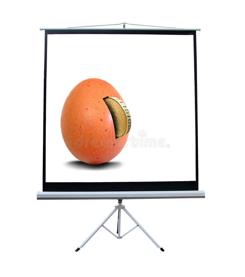Business meeting corporate video screen royalty free stock image