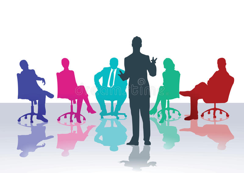 Business meeting or counseling course stock illustration