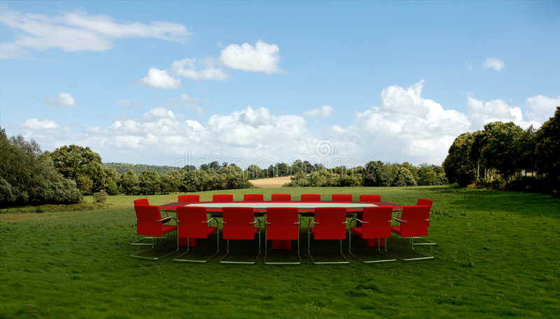 Business meeting in the countryside royalty free stock photos
