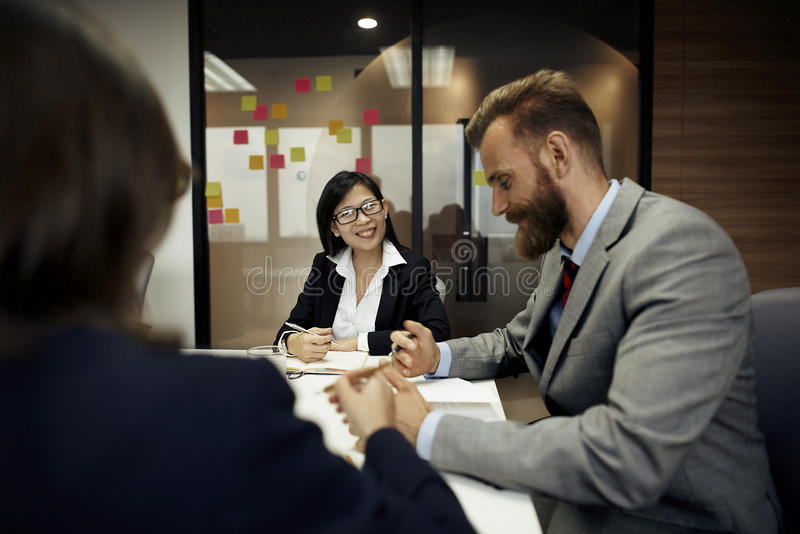 Business Meeting Discussion Conference Planning Concept royalty free stock image