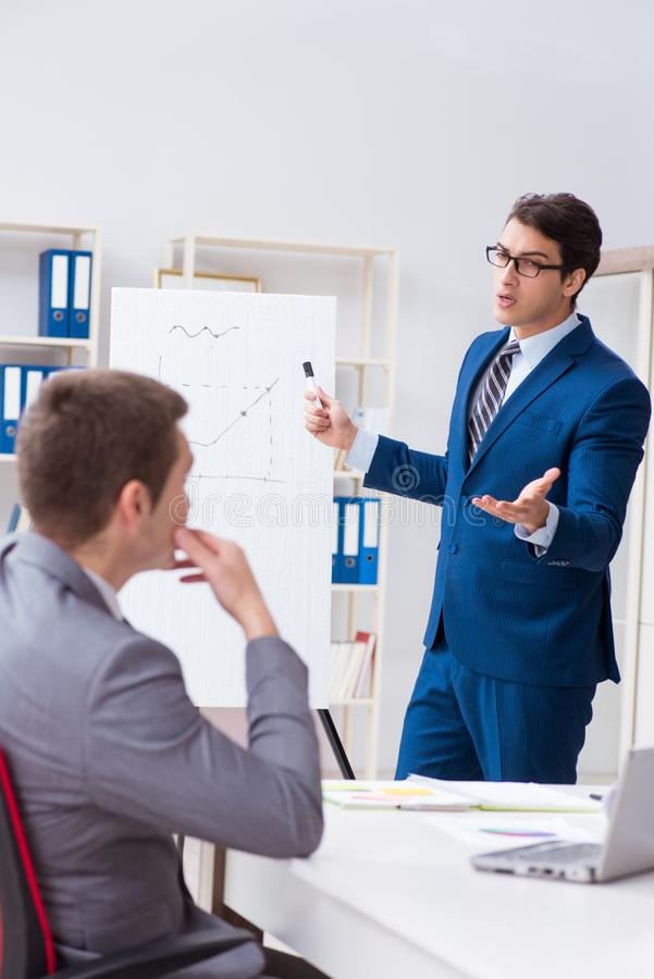 The business meeting with employees in the office royalty free stock image