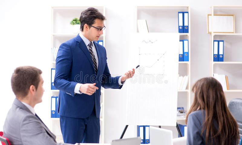 Business meeting with employees in the office royalty free stock images