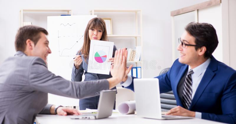Business meeting with employees in the office royalty free stock photo