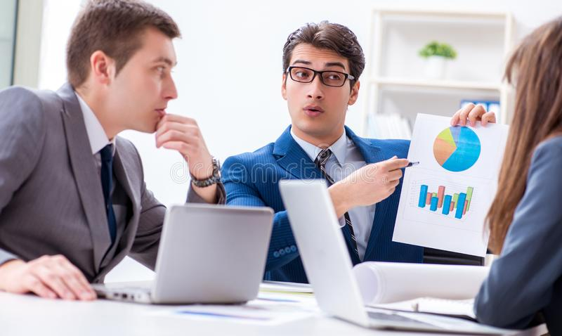 Business meeting with employees in the office stock images
