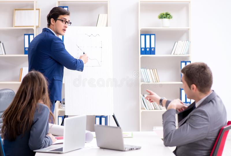 Business meeting with employees in the office stock photography