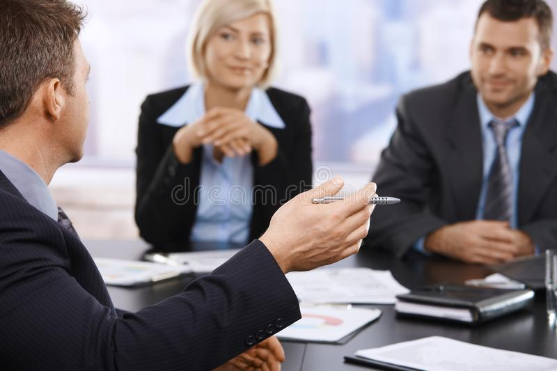 Download Business Meeting, Hand In Closeup Stock Photo - Image: 22784798