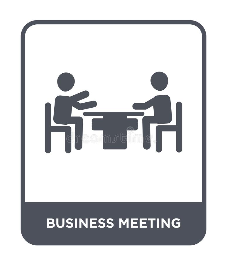 business meeting icon in trendy design style. business meeting icon isolated on white background. business meeting vector icon royalty free illustration