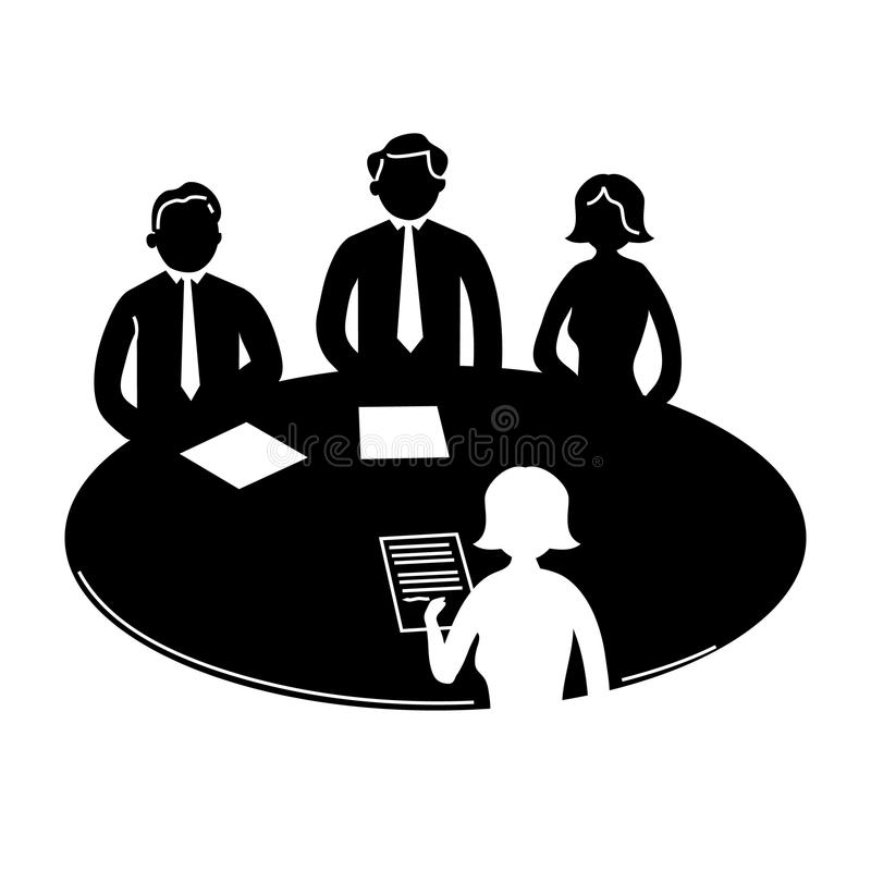 Download Business meeting icon stock illustration. Image of explaining - 35692764