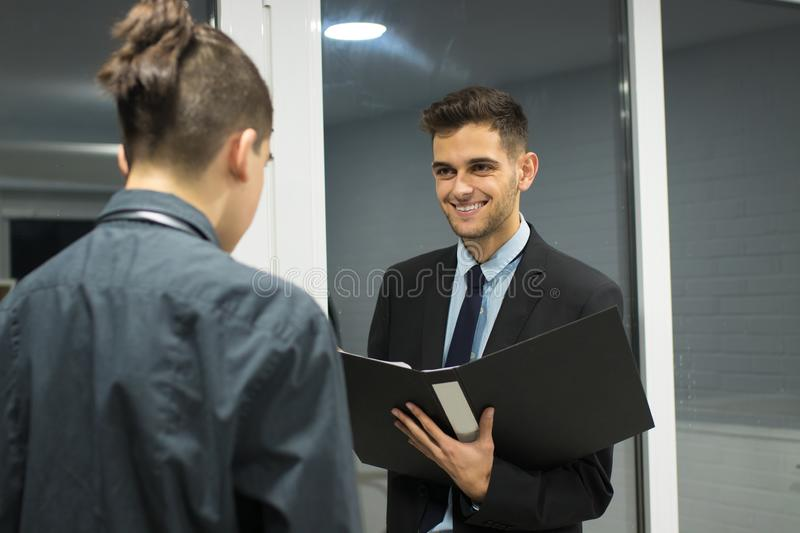 Business meeting or interview stock images