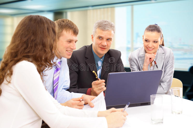 Business meeting - manager stock image