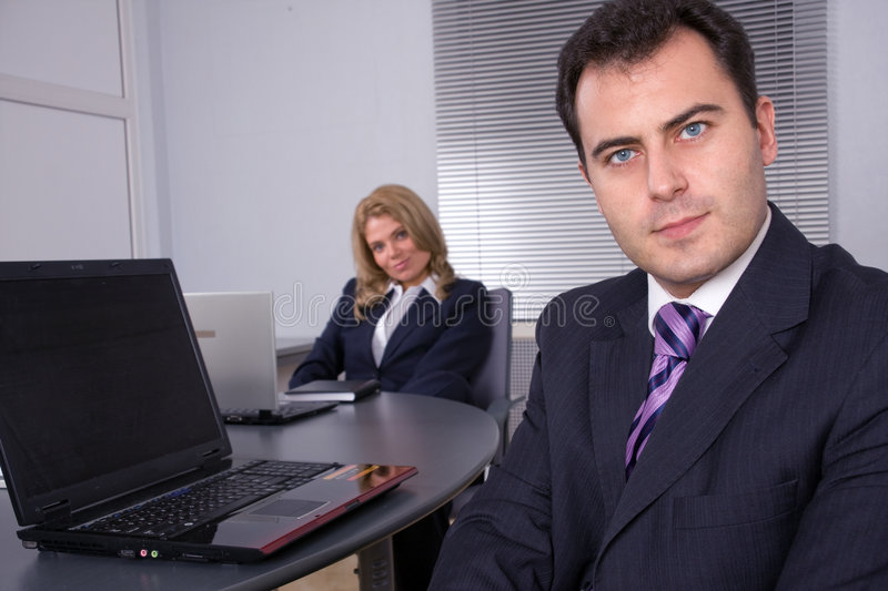 Business meeting in modern office. stock images