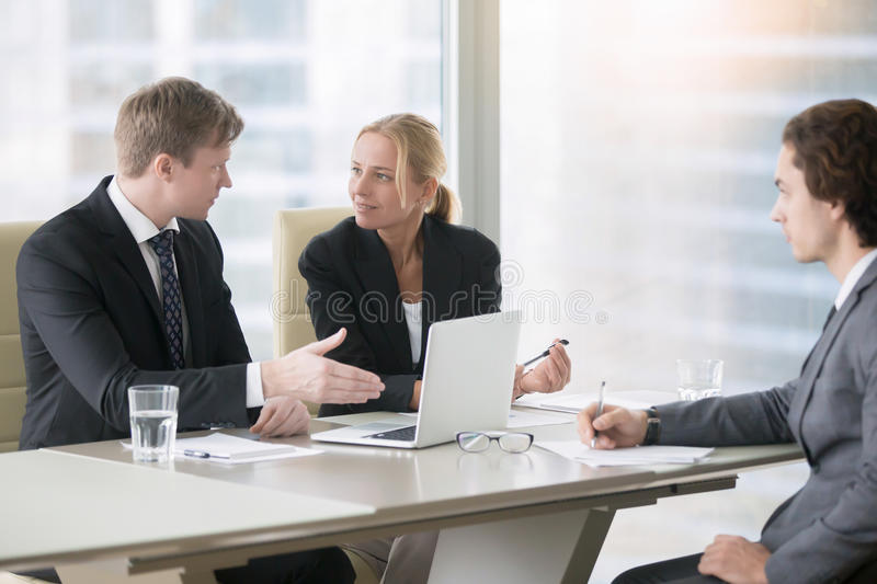 Business meeting for new project stock images