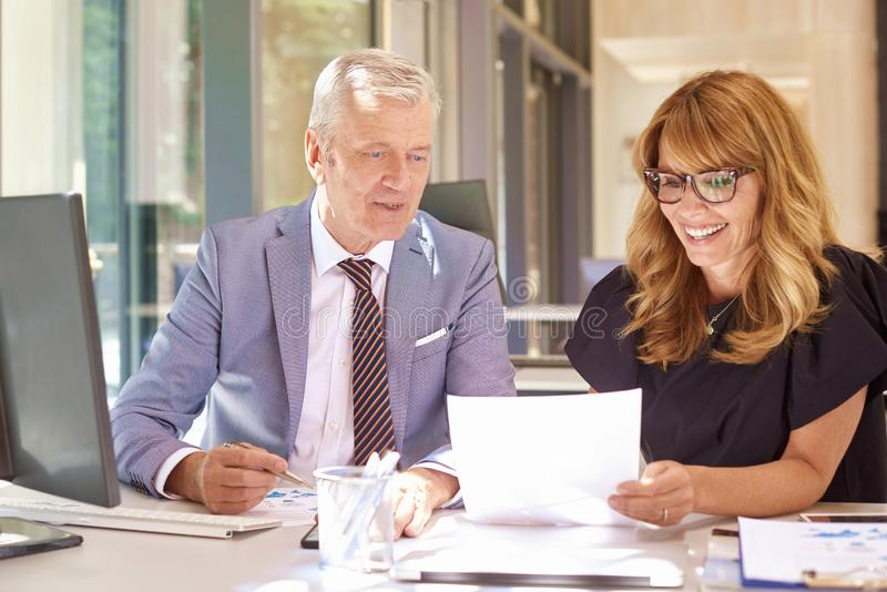 Business meeting in the office stock photography