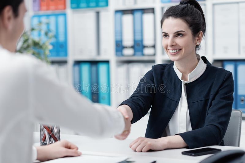 Business meeting in the office royalty free stock image