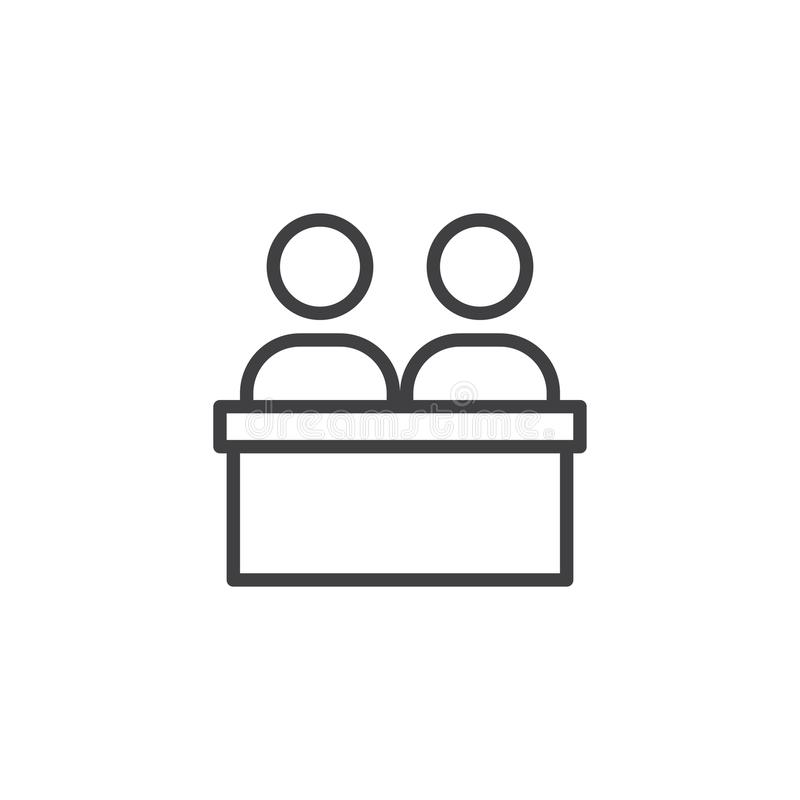 Business meeting outline icon royalty free illustration