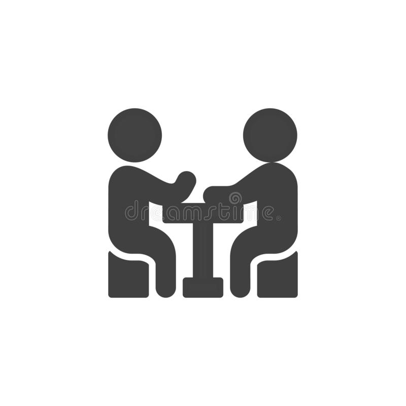 Business, meeting, people vector icon vector illustration