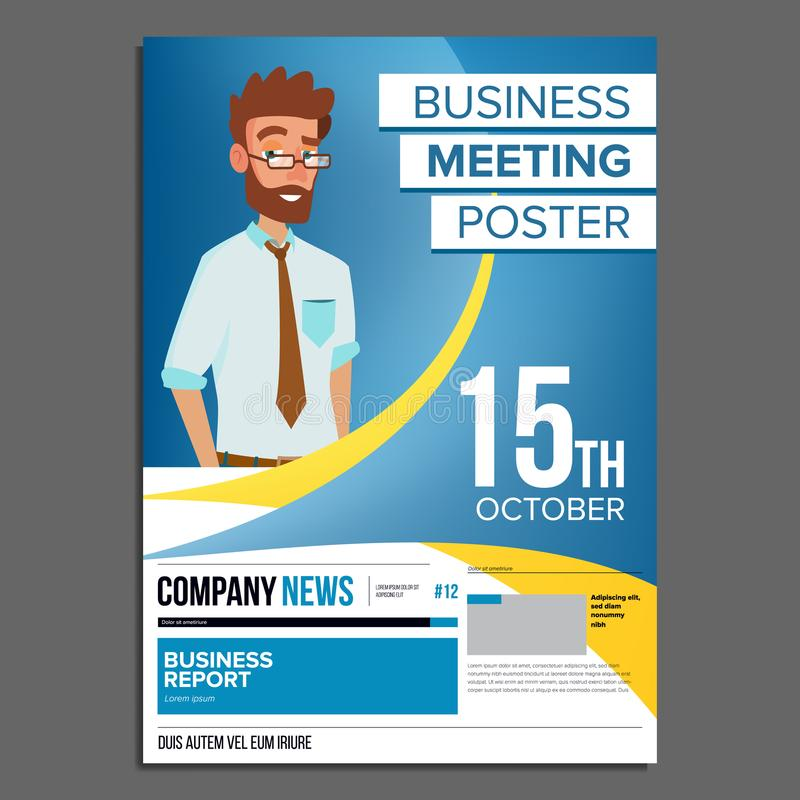 Business meeting poster vector businessman invitation for download business meeting poster vector businessman invitation for conference forum brainstorming stopboris Image collections