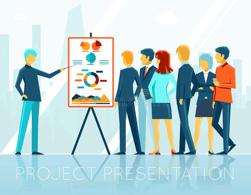 Business Meeting Project Presentation Stock Vector  Illustration