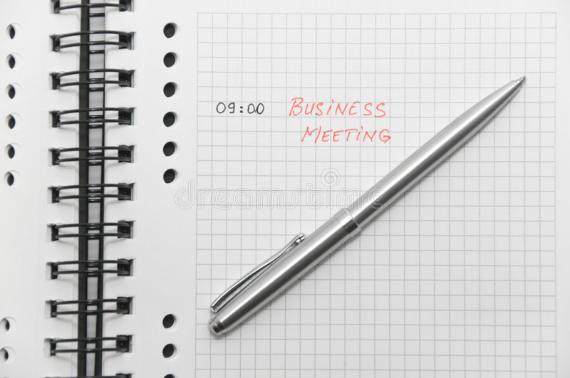 Download Business Meeting Scheduled (with Red Letters) Stock Photo - Image: 8515822