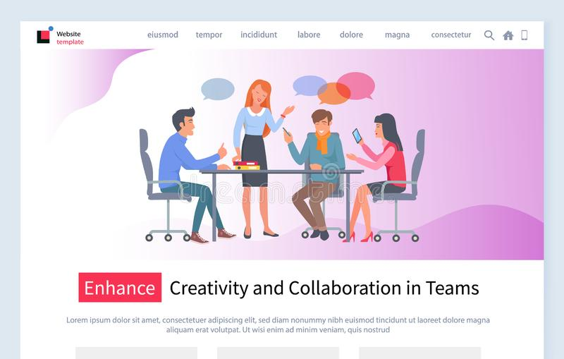 Enhance Creativity and Collaboration in Terms Web stock illustration