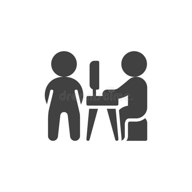 Business meeting vector icon royalty free illustration