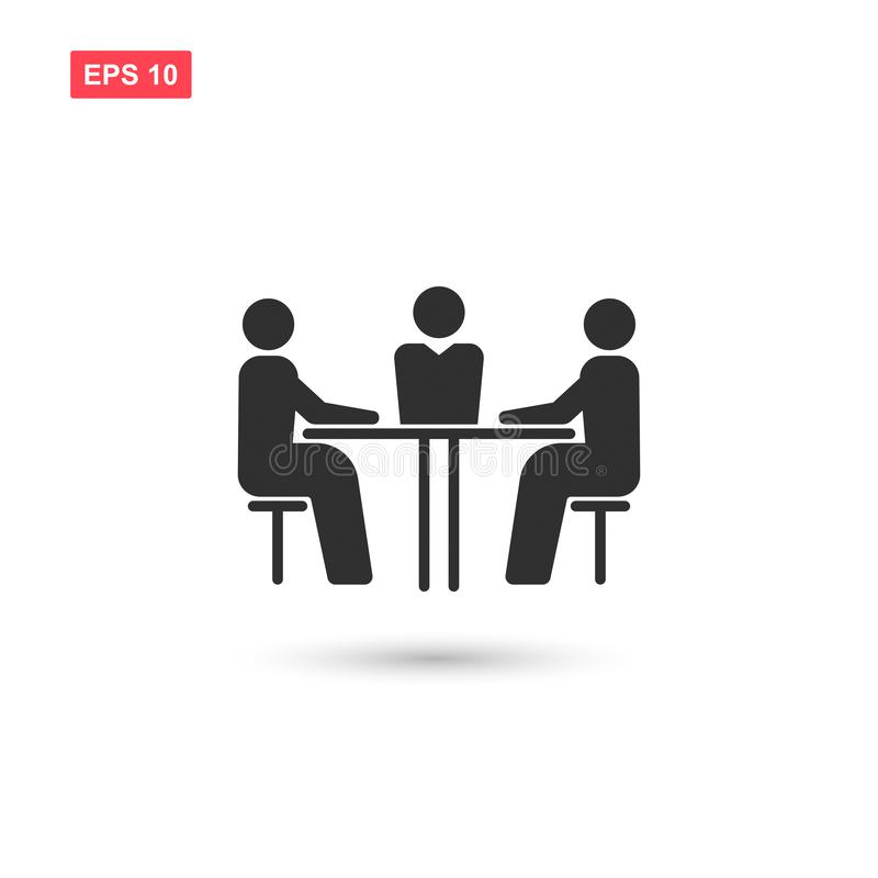 Business meeting vector icon isolated vector illustration