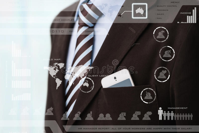 Business meeting in a virtual space vector illustration