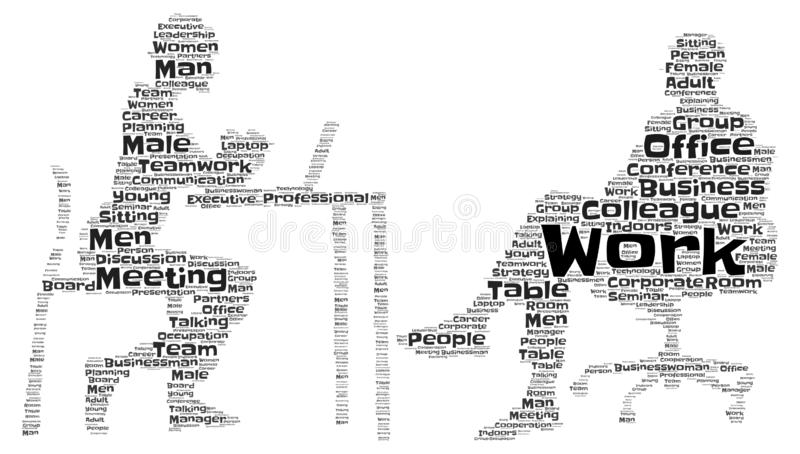 Business Meeting Word Art royalty free illustration