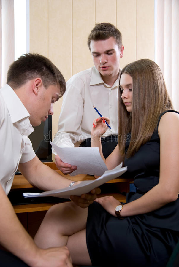 Download Business Meeting Of Young People At Office Stock Image - Image: 25368491
