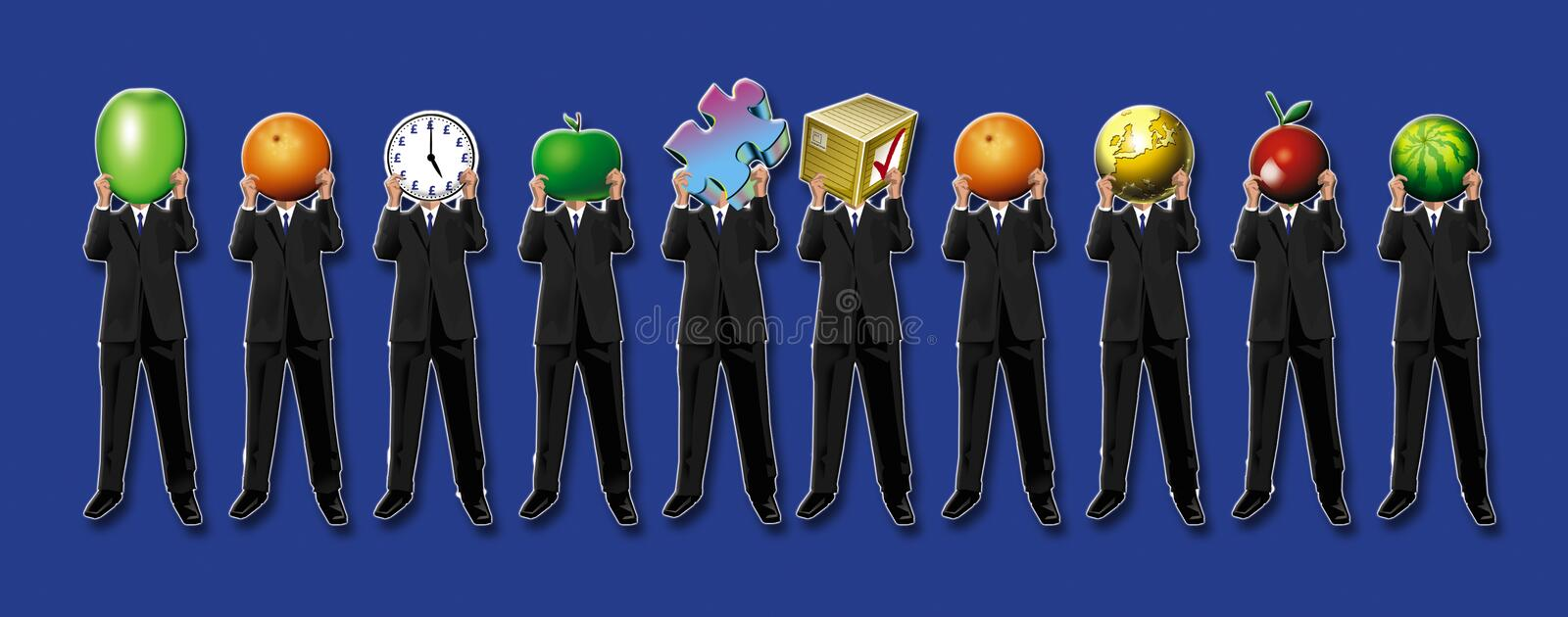 Business men royalty free illustration