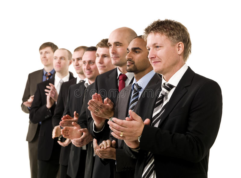 Download Business Men Clapping Hands Stock Photo - Image: 14078416